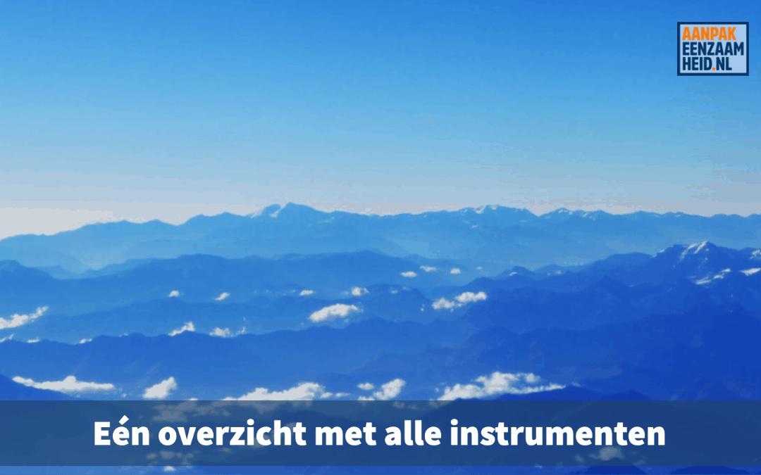 Instrumentenwijzer voor overzicht in alle hulpmiddelen