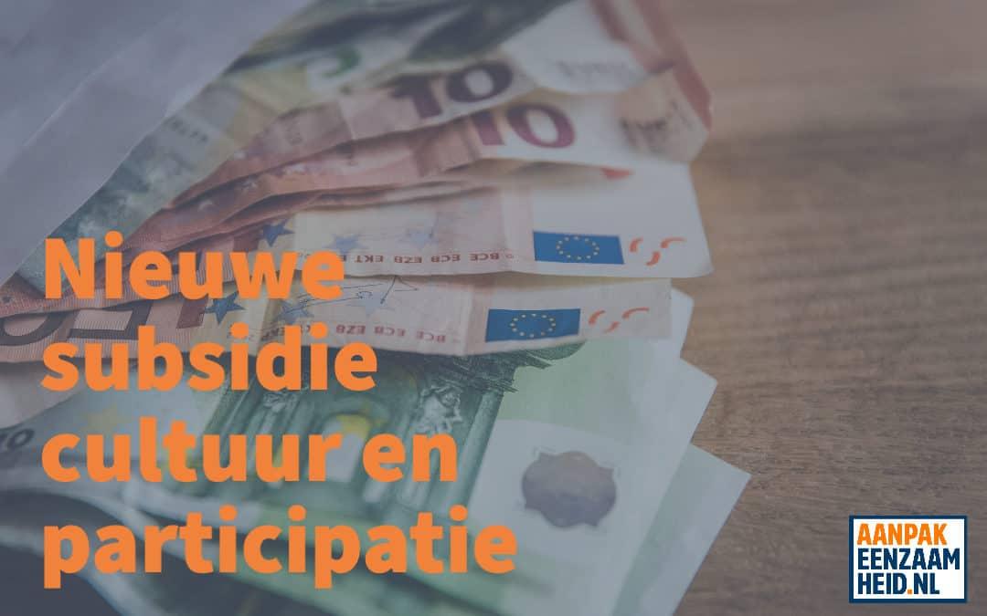 Nieuwe subsidie cultuur en participatie