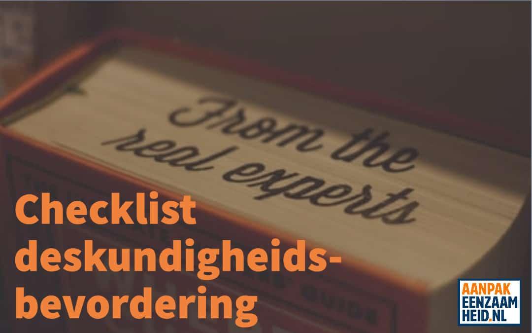 Checklist deskundigheidsbevordering