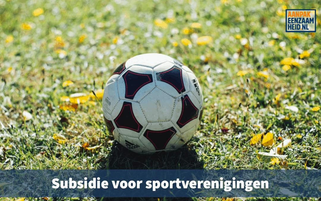 Subsidie voor sportverenigingen